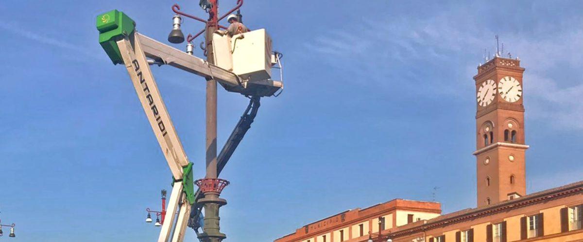 Nuovi Punti Luce In Piazza Saffi A Forlì